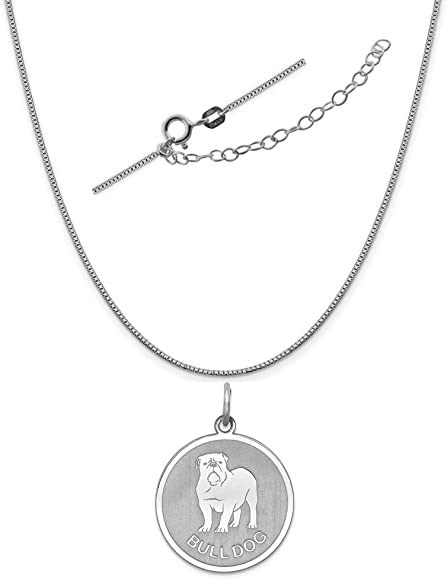Sterling Silver Anti-Tarnish Treated Chow Disc Charm on an Adjustable Chain Necklace