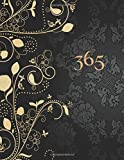 365: Daily diary notebook for 1 Year, large size paperback book features cream