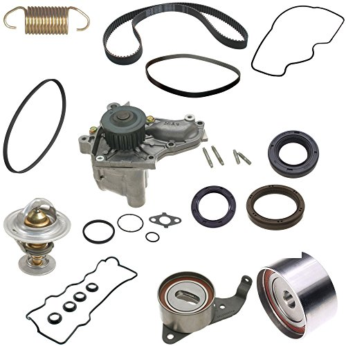 Toyota Camry Timing Belt Kit Fits 1992 to 2001 4 Four Cylinder Cyl. With Aisin Water Pump and OEM Brands Premium Quality TBK 1992 1993 1994 1995 1996 1997 1998 (Timing Cover Gasket Cylinders)