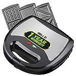 iBELL SM301 750 Watt 3 in 1 Sandwich Maker (Toast/Waffle/Grill),Black