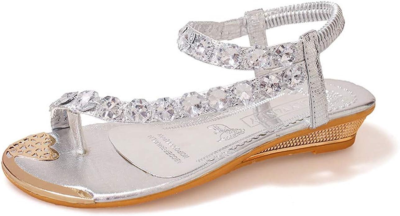 LANSKIRT Women Flat Sandals, Sale