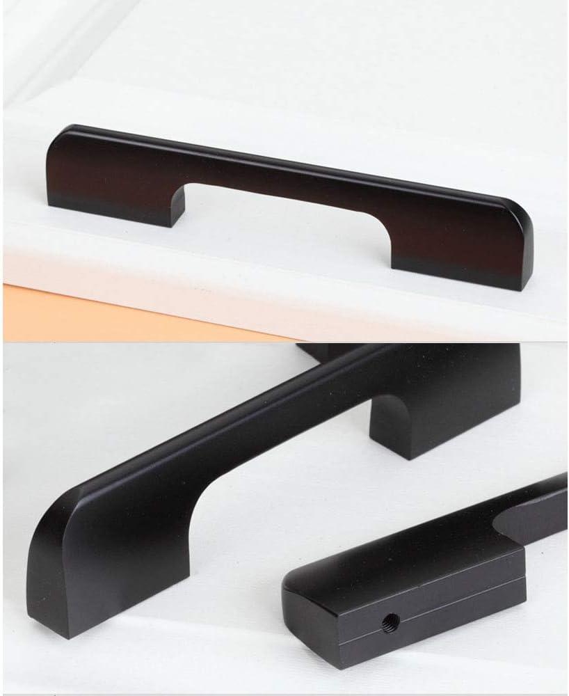 poign/ées de placard de cuisine barre de boutons de placard de centre /à centre 96 mm Noir mat NUZAMAS Lot de 10 poign/ées et tirettes de porte de meuble en alliage de zinc 115 mm de long
