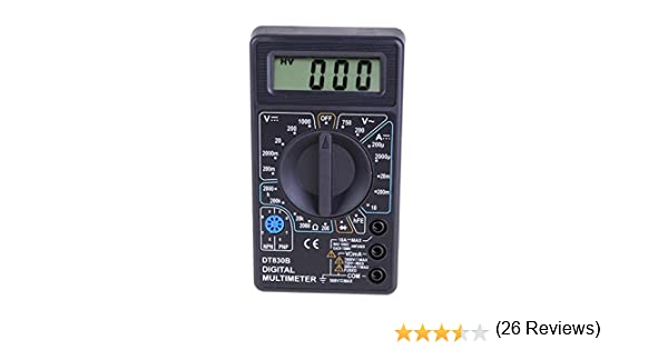 everpert Digital LCD mult/ímetro volt/ímetro amper/ímetro AC//DC//Ohm Volt Tester Corriente de prueba