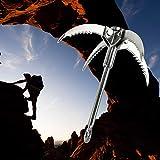 Yaesport Grappling Hook,Gravity Rock Climbing Hooks Folding 4 Claws Survival Carabiner Hooks Stainless Steel Climbing Rope Survival Climbing Harness