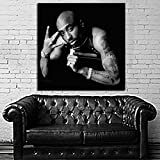 Poster Mural Tupac 2pac 40x40 inch (100x100 cm) on Adhesive Vinyl #88BW