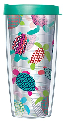 Sea Turtles Clear 16 Oz Traveler Tumbler Mug with Lid - Turtle Cup