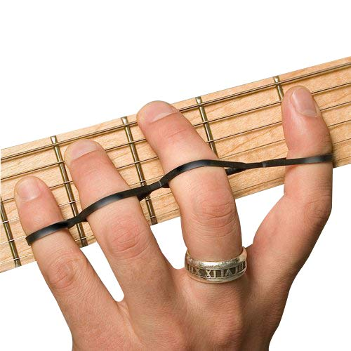 (Riff BANDZ - Training Bands For Guitar Bass Piano Finger Speed System - Premium Set of 3 Hand Strengthener Accessories)