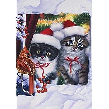 Amazon.com : Toland Home Garden Kittens in Window 28 x 40 ...