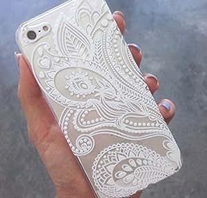 CSKFUClear Plastic Case Cover for phone iphone 6 5.5 plus iphone 6 5.5 plus (Henna) Mandala Sun Lace Tribal Vintage (For iphone 6 5.5 plus iphone 6 5.5 plus )