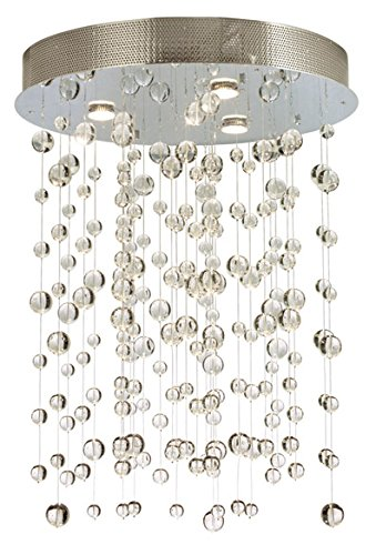 Stone Lighting CH513CRPCGM5 Chandelier Cascade Clear Polished Chrome GU10 120V MR16 3x50W