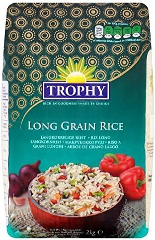 2kg trofeo de arroz de grano largo (Pack de 2 kg): Amazon.es: Alimentación y bebidas