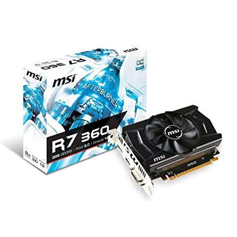 MSI R7 360 2GD5 OCV1 Radeon R7 360 2GB GDDR5 - Tarjeta gráfica (Radeon R7 360, 2 GB, GDDR5, 128 bit, 4096 x 2160 Pixeles, PCI Express 3.0)