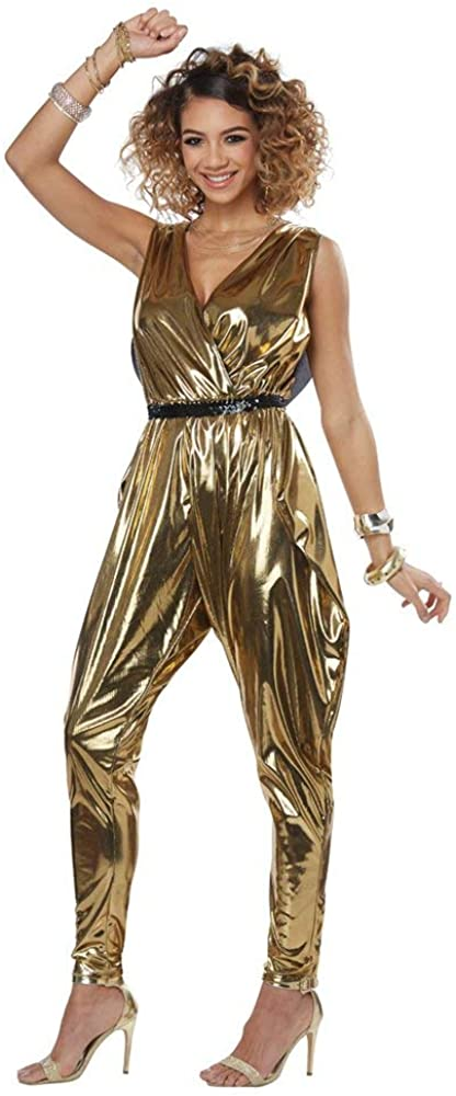 70s Disco Fashion: Disco Clothes, Outfits for Girls California Costumes Womens 70'S Glitz N Glamour - Adult Costume Adult Costume Gold Small  AT vintagedancer.com