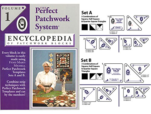 Marti Michell Perfect Patchwork System Volume 1 Bundle - Includes Required Templates Sets A and B by Marti Michell