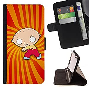 - Cartoon Character Boy Drawing Childrens - - Prima caja de la PU billetera de cuero con ranuras para tarjetas, efectivo desmontable correa para l Funny HouseFOR Samsung Galaxy Note 3 III