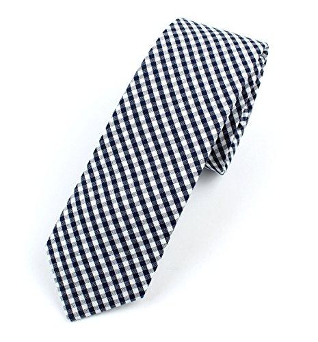 Buy light blue and white checkered dress - 4