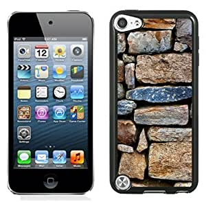 Fashionable Custom Designed iPod Touch 5 Phone Case With Stone Wall Texture_Black Phone Case