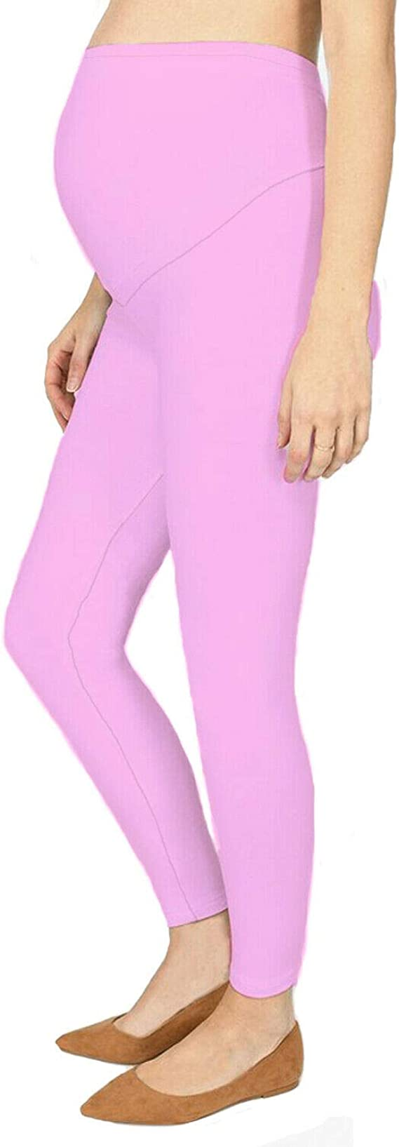 Over The Bump Full Length Stretchy Soft Viscose Leggings Women/'s Maternity