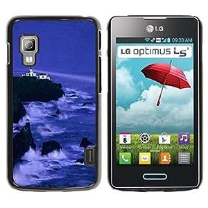 LECELL -- Funda protectora / Cubierta / Piel For LG Optimus L5 II Dual E455 E460 -- Nature Cliff Castle --