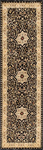 Lafayette Black Mashhad Persian Medallion Area Rug 2 x 7 (2'3