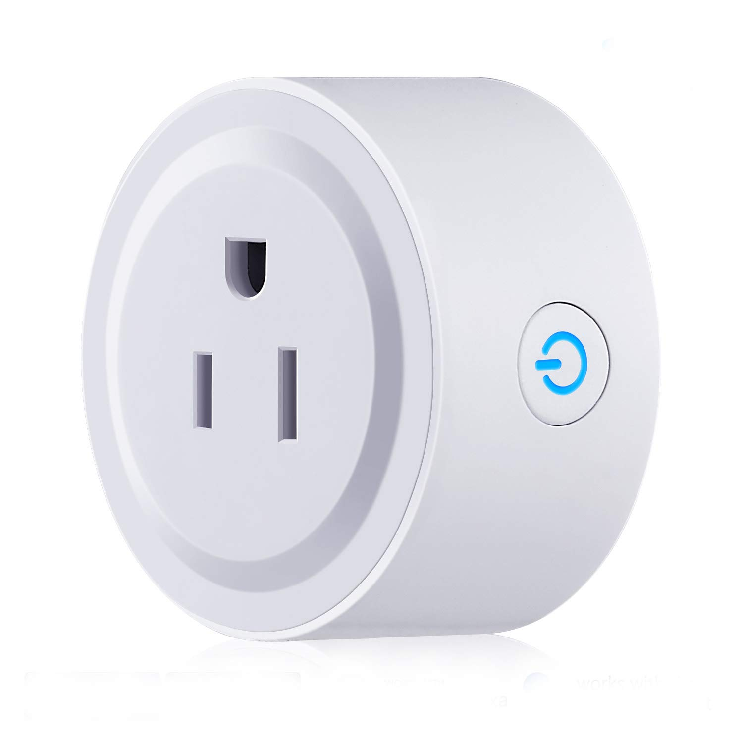 WiFi Smart Plug/Power Socket/Outlet Works with Amazon Echo Alexa and Google Home Voice Control Smart Home Wireless Controls Timing Smart Socket/Plug/Outlet