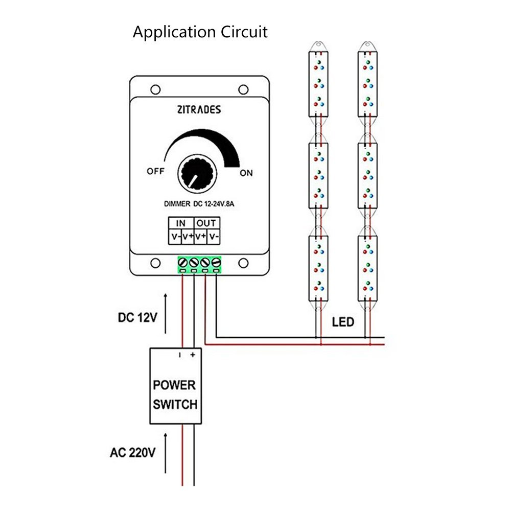 led dimmer circuit diagram besides ul recognized ponent