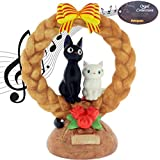 Studio Ghibli Jiji and Lily Ceramic Music Box