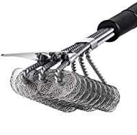 Z&Y BBQ Grill Brush and Scraper, Bristle Free Barbecue Cleaning Brush, Premium 18 inch Stainless Steel Grilling Cleaner for All Grill Cooking Grates from famous Z&Y