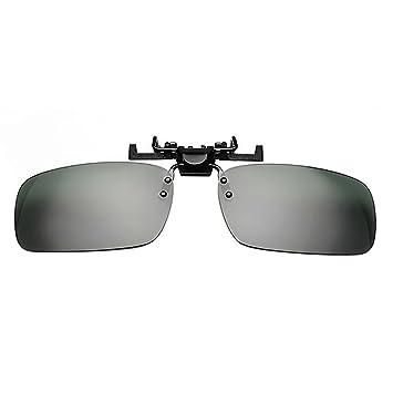 Vococal - Ultrafino Clip l Rotativo de Gafas de Sol Polarizadas de Solapa con Clip Tirón