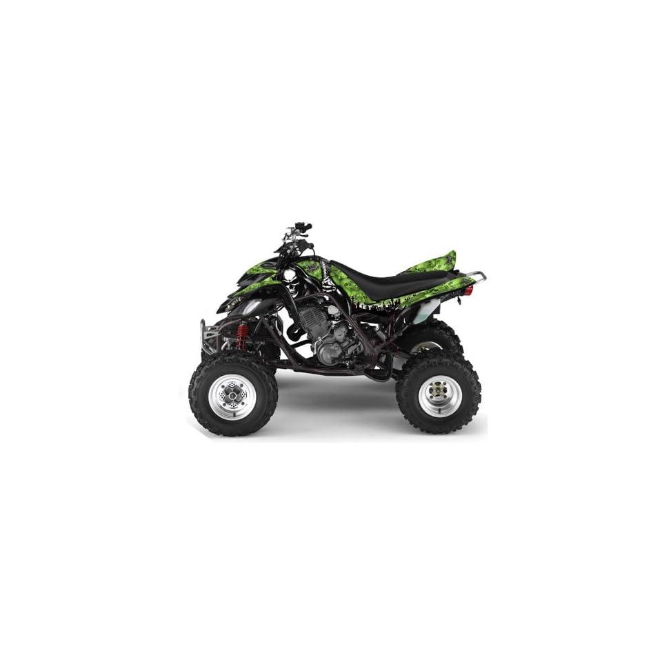 AMR Racing Yamaha Raptor 660 ATV Quad Graphic Kit   Reaper Green