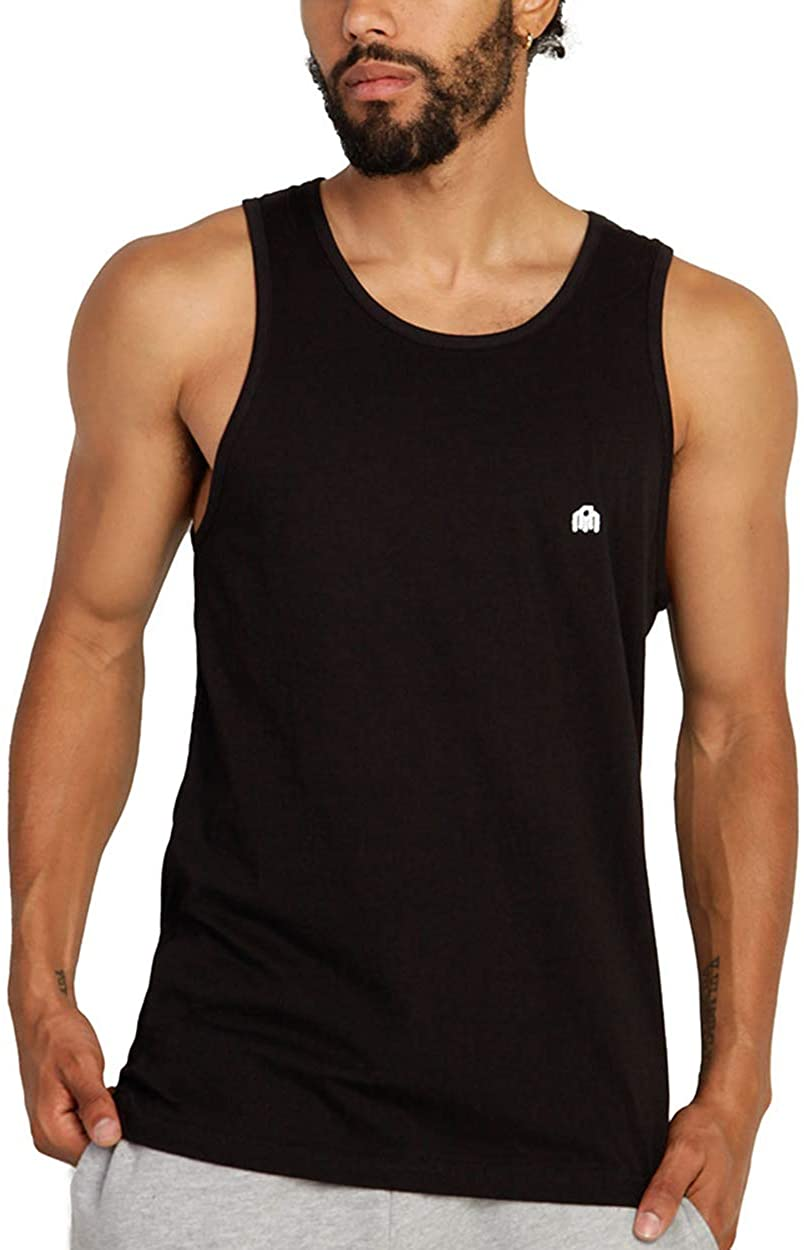 INTO THE AM Men's Premium Basic Tank Tops Ultra-Soft Modern Fit Sleeveless Tank at  Men's Clothing store