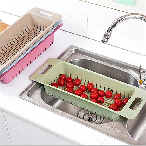 Kitchen Sink Dish Drainer Basket Fruits Vegetables Washing D