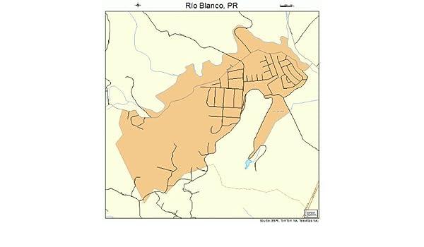 Amazon.com: Large Street & Road Map of Rio Blanco, Puerto ...