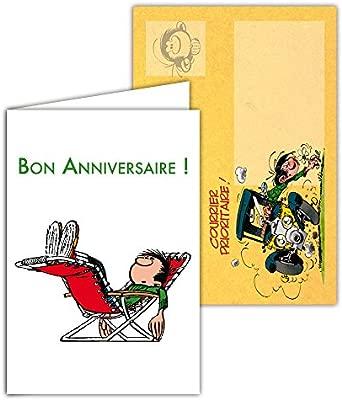 Gaston Lagaffe glct-6067 tarjeta de cumpleaños para todos ...