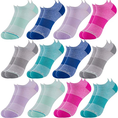 Sof Sole (12 Pairs) Women's No Show Socks Low Cut Athletic Sports Performance Socks Fits Shoe Size 5-10 Bulk Pack - Lightweight Low Cut Socks