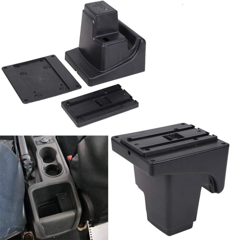Auto Armlehnen f/ür Focus 3 mk3 2011-2019 Doppelschicht Mittelkonsole Gro/ße Aufbewahrungsbox mit 3 USB-Ladeanschluss Schwarz mit roten N/ähten