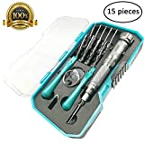 Precision Screwdriver set, 15 in 1 Professional Electronics Repair Tool Kit, Magnetic Driver Kit for iPhone/Smartphone/ Game Console/Tablet/ MacBook/Watch/ Glasses/other Popular Electronic Device