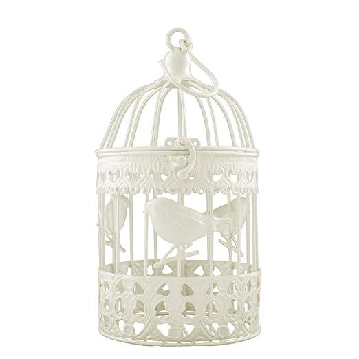 Brillante con jaulas de pájaros P-9055 color: dorado con adorno ...