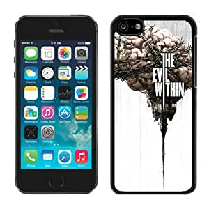 The Evil Within Survival Horror Game Logo Black Case Cover for iPhone 5C Grace and Cool Design