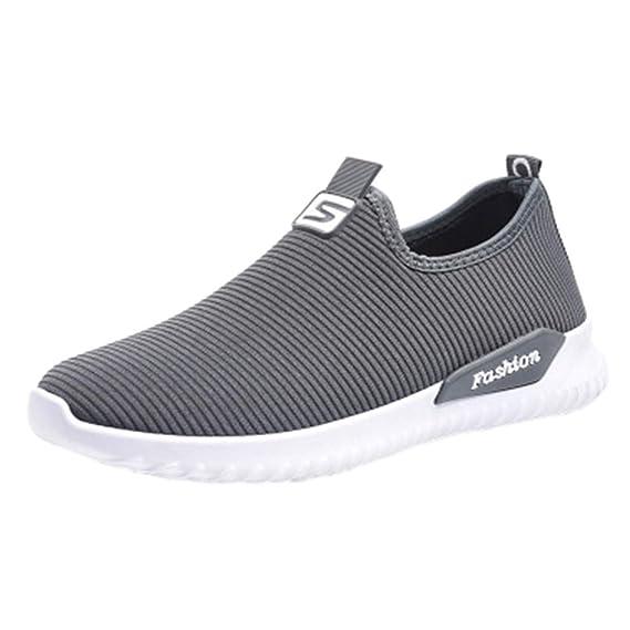 Baskets Sneakers sans Lacets Femme Chaussures Plates Pas