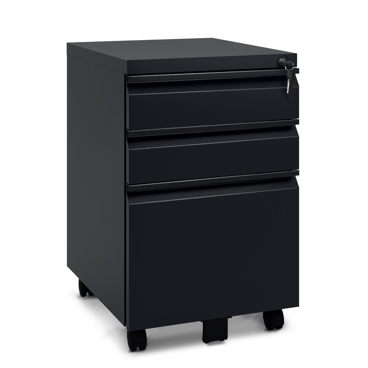 DEVAISE 3 Drawer Metal File Cabinet with Lock(15.7
