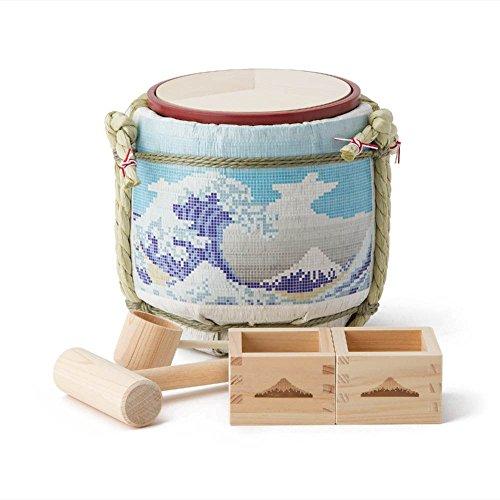 Mini Komodaru Sake-Barrel Set ''Tegular Mount Fuji-Tairu Fuji'' by Komodaru