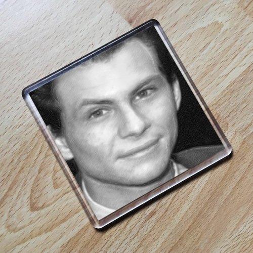 (Seasons Christian Slater - Original Art Coaster #js003)