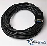 Wirenest 25ft VISCA PTZ Camera Control Cable for Sony EVI/BRC/SRG Series RS232 8 Pin Mini DIN to DB9F Serial