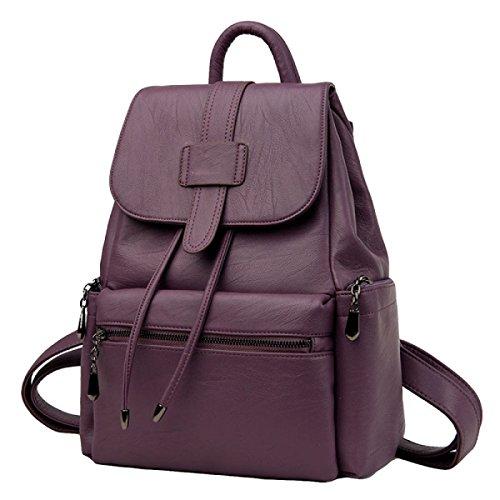 Marea Gama De Mujeres En Europa Y Los Estados Unidos Fan De Viaje Salvaje Mochila De Moda De Alta Calidad Bolso De Hombro Purple