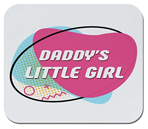 Makoroni - Daddy's, Little Girl - Non-Slip Rubber Mousepad, Gaming Office Mousepad