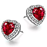 Caperci-Sterling-Silver-Created-Gemstone-Halo-Heart-Stud-Earrings-for-Women