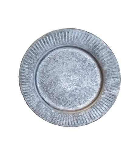 Galvanized Tin charger plate set of 2