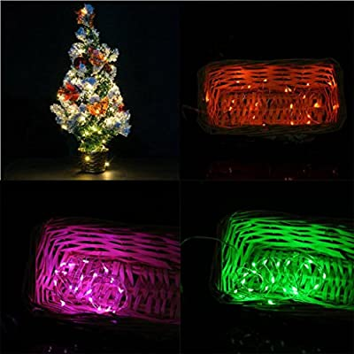 LiPing 1M 10LED Solar Energy Copper Wire Copper Wire Mini Fairy String Lights for Christmas, Weddings,Garden