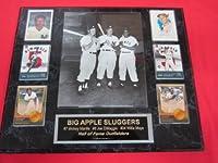 Mickey Mantle Joe DiMaggio Willie Mays NEW YORK SLUGGERS 6 Card Collector Plaque w/8x10 RARE Photo